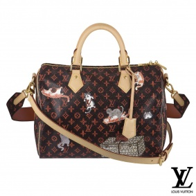 Louis Vuitton x Grace Coddington Speedy 30 Bandouliere bag